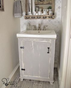 Just Shared The Free Plans For My DIY Bathroom Vanity! Simple And  Inexpensive Build Guys