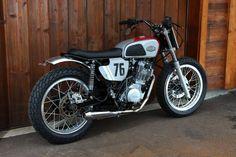 Bobber, Scrambler Motorcycle, Cb350, Tw Yamaha, Cafe Racer Bikes, Street Tracker, Custom Bikes, Racing, Vehicles