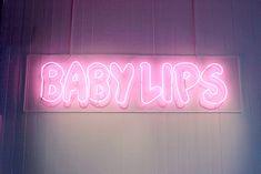 Imagen de pink, neon, and baby lips