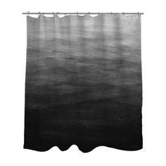 Dark Grey Ombre Shower Curtain