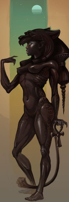 Sekhmet by Sceith-A on @DeviantArt