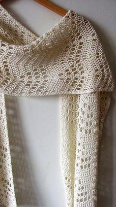 Crochet Scarf Pattern – White Coast Wrap – chevron filet crochet wrap, summer cotton light lacy scarf – Crochet Pattern PDF – The Best Ideas Filet Crochet, Poncho Au Crochet, Crochet Wrap Pattern, Crochet Stitches Free, Crochet Shawls And Wraps, Crochet Scarves, Crochet Hats, Lace Shawls, Crochet Scarf Diagram