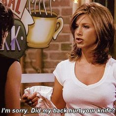 Like if your a fan of 20 Rachel Green Quotes Friends Show Quotes, Tv Show Quotes, Friends Tv Show, Movie Quotes, Rachel Green Quotes, Rachel Green Hair, Rachel Hair, My Back Hurts, I Love My Friends