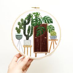 Hand embroidery by Sarah K. Benning