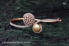 pulseira- ouro branco  e rosé,pérola,diamantes  save 2/3/17