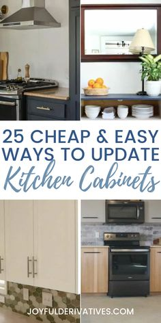 Whether you want to upgrade your current cabinets, or build from scratch, here are plans for you. Here are 25 ideas to help you update your kitchen with DIY kitchen cabinets. Kitchen Cabinets Upgrade, Repainting Kitchen Cabinets, Kitchen Upgrades, Kitchen On A Budget, Diy Kitchen Projects, Diy Kitchen Decor, Beautiful Kitchen Designs, Updated Kitchen, Organizer