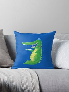 Jacks crocodile feeding the birds (in his TEETH!) • Also buy this artwork on home decor, apparel, stickers, and more. Super cute design for birthday presents, gifts and Christmas from RedBubble and jazzydevil designz. (Also available in mugs, cups, shirts, duvet covers, acrylic block, purse, wallet, iphone cases, baby onsies, clocks, throw pillows, samsung cases and pencil skirts.)