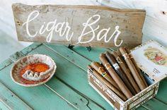 Wedding cigar bar | White Rabbit Studios | see more on: http://burnettsboards.com/2015/07/spanish-styled-shoot/