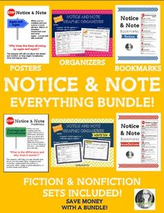 Bundle and SAVE!  This bundle contains my entire line of Notice and Note…