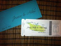 Aruba Map Boarding Pass Invitation or Save the Date, www.alisamariedesigns.com Boarding Pass Save the Date, Aruba Wedding, Destination Wedding Invitation