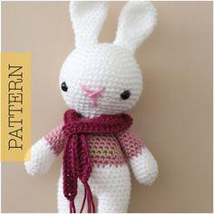 Crochet Amigurumi Bunny PATTERN ONLY Marley by HelloYellowYarn