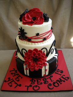 Graduation Cake by www.FlourGirlDesigns.com
