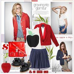 """an apple a day & Le Bunny Bleu"" by jodente on Polyvore  le bunny bleu, lebunnybleu, lebunnybleu.com, shoes, flats, jodente, jo dente"