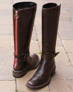 Aquatalia leather boots I love the red stripe