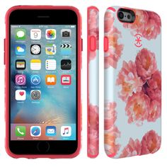 CandyShell Inked iPhone 6s & iPhone 6 Cases - FLORAL PEACH/SPLASH PINK