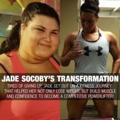 Tired of giving up, Jade set out on a fitness journey that helped her not only lose weight, but build the muscle and confidence to become a competitive powerlifter!