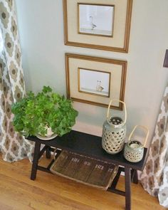 Brandi said the most important piece of furniture in the room is the accent chair she inherited from her mom, which matches this end table decorated with candles and greenery.
