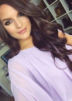 New Hair Color Ideas For Brunettes Haircolor Loose Curls Ideas Bridal Makeup Natural Brunette, Wedding Hair And Makeup Brunette, Brown Wedding Hair, Natural Makeup, Curled Wedding Hair, Wig Hairstyles, Wedding Hairstyles, Loose Curls Hairstyles, Hairstyle Men