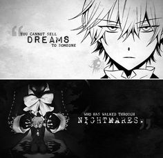 >>>Pandora Jewelry OFF! >>>Visit>> you cannot sell dreams to someone who has walked through nightmares Fashion trends Fashion designers Casual Outfits Street Styles Dc Anime, Anime Boys, Manga Anime, Sad Anime Quotes, Manga Quotes, Otaku, Dark Quotes, Pandora Hearts, Animes Wallpapers