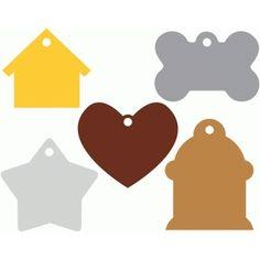 Silhouette Design Store: pet tags set