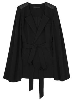 Alexander Wang Crepe Draped Jacket