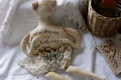 Alone with Me... OOAK Lovelorn soft sculpture textile by pantovola