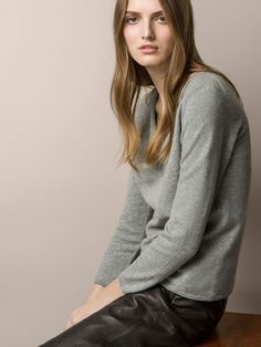 SHIMMER THREAD DRAPING SWEATER