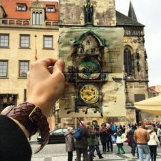 """culturenlifestyle: """"Latvian graphic designer and illustrator Ieva Ozola has made it her mission to sketch the location of every place she visits daily. As a current resident of Prague, Ozola began. Small Sketchbook, Travel Sketchbook, Sketchbook Ideas, Watercolor And Ink, Watercolor Illustration, Prague, Human Memory, Great Works Of Art, Ink Illustrations"""