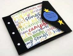 Girls camp ideas. Camp notebook, and a way to record all the fun things that happen at camp! Great ideas! yw ideas