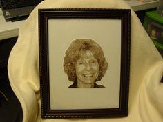 Embroidered Thread Portrait