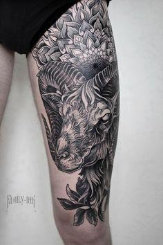 Aries tattoo  #familyink #familyinktattoo #onlyblackart #darkartists…