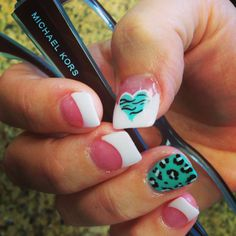 Fun leopard and zebra print on French