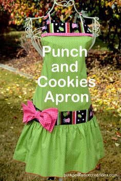 punch and cookies apron Archives - Pink Polka Dot Creations