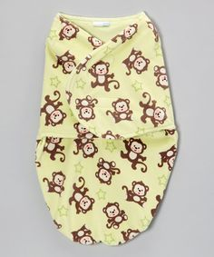 Take a look at this Vitamins Baby Green Monkey Swaddle Blanket on zulily today!