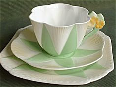 Shelley Dainty Flower Handle Trio. Click the image for more information.