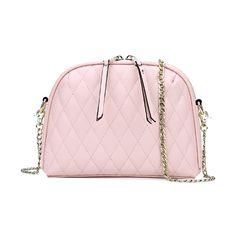 Tassel Argyle Solid Color Crossbody Bag (175 BAM) via Polyvore featuring bags, handbags, shoulder bags, pink crossbody, crossbody handbags, crossbody purse, cross body and crossbody shoulder bags