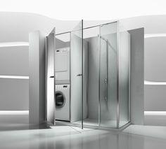 1000 id es sur le th me armoire linge de salle de bains - Cacher machine a laver dans salle de bain ...