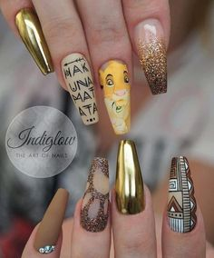 Remember who you are! Lion King nails for my lovely client 🦁 Is this your fav disney movie too? Disney Acrylic Nails, Summer Acrylic Nails, Best Acrylic Nails, Disney Nails Art, Summer Nails, Disney Nail Designs, Cute Acrylic Nail Designs, Swag Nails, My Nails