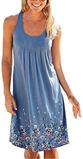 Summer Dress For Women Summer Floral Printed Sleeveless Casual Dress – Lightweight Dress … - Beach Dresses Sun Dress Casual, Casual Summer Dresses, Summer Dresses For Women, Beach Dresses, Dress Beach, Women's Casual, Beach Casual, Dress Summer, Casual Wear