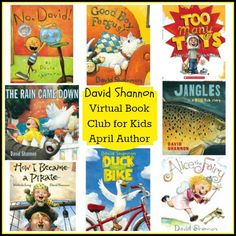 Virtual Book Club for Kids: April Author is David Shannon