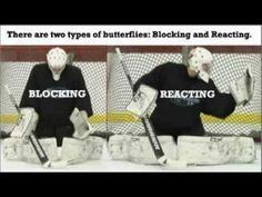 This is an instructional video to help teach young hockey goalie's proper butterfly technique. Hockey Goalie Gear, Hockey Drills, Hockey Mom, Ice Hockey, Hockey Stuff, Goalie Pads, Butterfly Stretch, Goalie Gloves, Hockey Training
