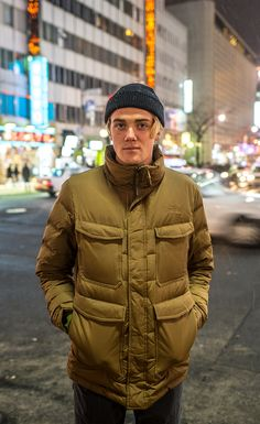 Built for warmth and utility as you maneuver through cold urban environments, this down insulated jacket features four pockets for additional utility. Urban Exploration, The North Face, Fill, Winter Jackets, Pockets, Mens Fashion, Jeans, Ski, Sports