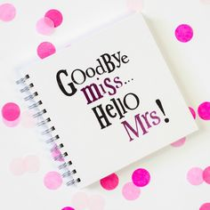Goodbye Miss, Hello Mrs Hen Party Scrapbook Wedding Cards, Wedding Gifts, Wedding Bells, Wedding Ideas, Hen Party Games, Night Book, Hens Night, Memory Books, Little Gifts