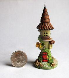 Handmade Miniature FAIRY  WHIMSY FAIRYTALE TOWER HOUSE - OOAK by C. Rohal #CRohal