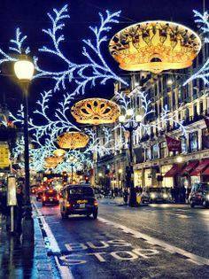 Regent Street in Christmas, London