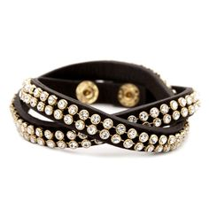 Crystal Studded Leather Wrap, an all time favorite. Two bracelets for the price of one! Click to buy.