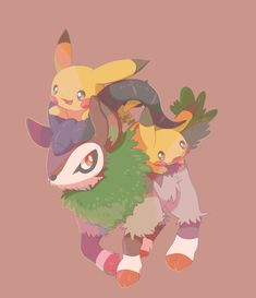 Pikachu y Gogoat