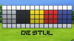 De Stijl Wall Panels Blocks (Middle) #11 for #TheSims4  http://www.simsnetwork.com/downloads/the-sims-4/build/de-stijl-wall-panels-blocks-middle-11