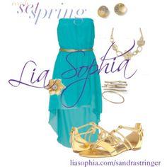 Lia Sophia Outfit Purple Gold Turquoise