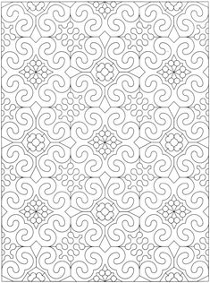 Welcome to Dover Publications - Creative Haven Geometric Allover Patterns Coloring Book